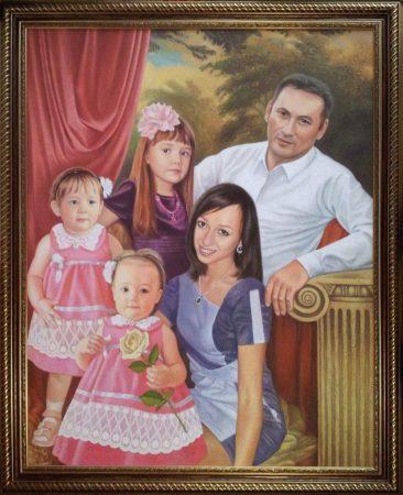 Семейный портрет маслом в Ярославлье — правильная традиция…