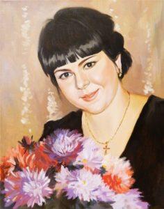 Заказать портрет маслом директору женщине