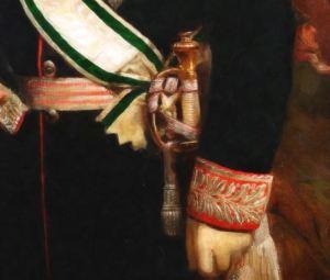 Фрагмент исторического образа портрета на холсте