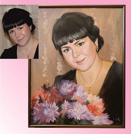 Настоящий портрет маслом на холсте директору женщине…