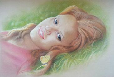 Настоящий портрет пастелью для любимой девушки в Ярославлье, просто и со вкусом!