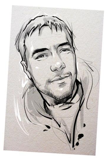 Портрет карандашом любимому мужу в Ярославлье…
