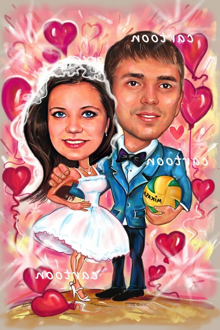Свадебный шарж с оригинальным сюжетом в Ярославлье!