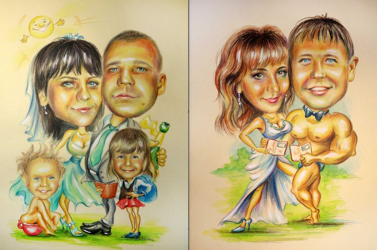 Портрет на свадьбу поздравление