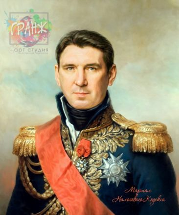 Портрет по фото на холсте в подарок мужчине на 23 февраля Ярославль