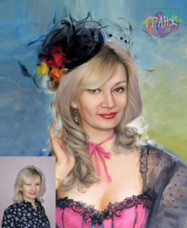 Заказать арт портрет по фото на холсте в Ярославле…