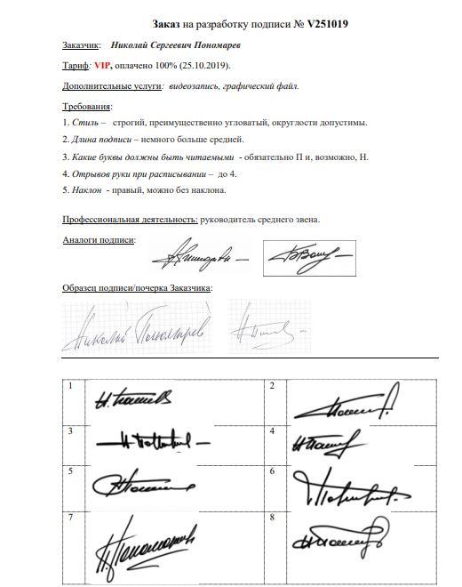 Разработка личной подписи онлайн Ярославль