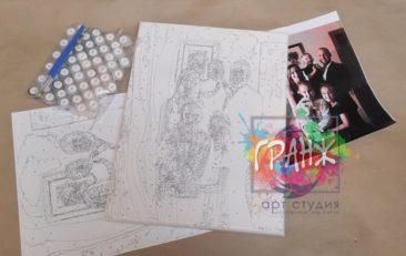 Картина по номерам по фото, портреты на холсте и дереве в Ярославле