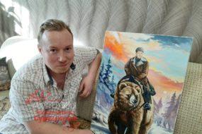 Удивить супруга подарком получилось))) Есть подруги-художники, оценили!